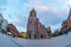 Myeongdong Cathedral in Seoul, South Korea Stock Photos