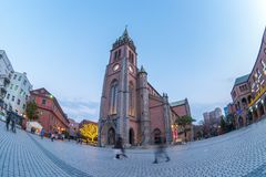 Myeongdong Cathedral at twilight in Seoul, South Korea.  Royalty Free Stock Image
