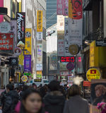 Myeongdong district in Seoul, South Korea Royalty Free Stock Images