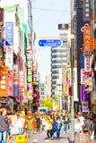 Myeongdong ha ammucchiato i segni dei depositi della strada dei negozi V Fotografia Stock Libera da Diritti