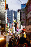 Myeongdong Shopping Area in Seoul, Korea royalty free stock photography