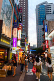 Myeongdong Shopping Area in Seoul, Korea stock photography