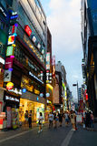 Myeongdong Shopping Area in Seoul, Korea stock image