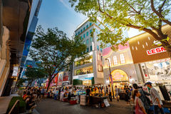 Myeongdong shopping district on Jun 18, 2017 in Seoul city, Sout Stock Photo