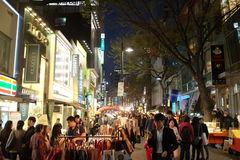 Myeongdong Street Royalty Free Stock Images