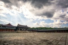 Myeongjeongjeon Hall And Myeongjeongmun Gate Royalty Free Stock Photo