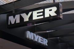 Myer百货商店墨尔本澳大利亚 免版税库存照片