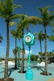 Myers Beach forte, orologio del Times Square Fotografia Stock