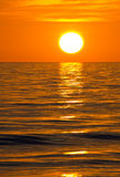 Myers Beach forte, tramonto Immagini Stock