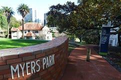 Myers Park i Auckland Nya Zeeland Arkivfoto