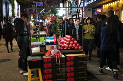Myeyongdong Street, Seoul South Korea Royalty Free Stock Photography