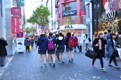 Myeyongdong Street, Seoul South Korea Stock Photography