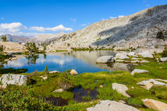 Mygga Lakes, Sequoianationalpark Royaltyfria Foton