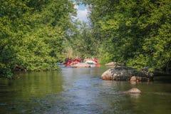 Rafting at Southern Bug river stock photos