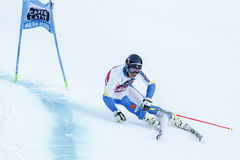 MYHRER Andre in Audi Fis Alpine Skiing World-Schale Men's riesiges S stockbilder
