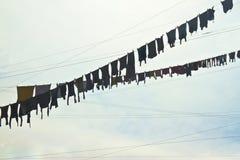 Myjący pralniany obwieszenie przed chmurnym niebem obrazy royalty free