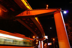 myjący ruchu oddalony tramwaj Fotografia Royalty Free