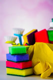 Myje i czyści wyposażenie, czyści set Zdjęcia Royalty Free
