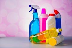 Myje i czyści wyposażenie, czyści set Zdjęcie Royalty Free