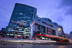 Mykal headquarters in Dalian. DALIAN-CHINA-NOV. 2, 2012. Mykal headquarters on Nov. 2, 2012 in Dalian. It is located at Qingni commercial center, founded in Royalty Free Stock Photo