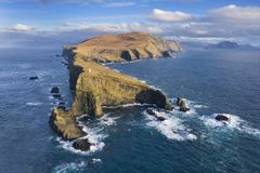 Mykines Cliffs and Lighthouse Aerial