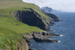 Mykines landscape Royalty Free Stock Photography