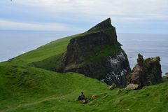 Mykineseiland in de Faeröer royalty-vrije stock foto's
