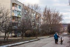 Mykolaivka, Donetsk Oblast, de Oekraïne 15 03 2016 Stock Afbeelding