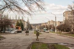 Mykolaivka, Donetsk Oblast, de Oekraïne 15 03 2016 Stock Fotografie