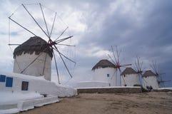 Mykonos风车 库存图片