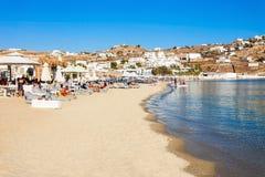 Mykonos östrand, Grekland Royaltyfri Fotografi
