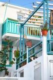 mykonos σπιτιών διαμερισμάτων στοκ εικόνα