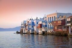 Mykonos, маленькое Венеция Стоковая Фотография RF