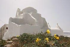 mykonos церков стоковая фотография