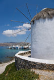 Mykonos. The windmills of Mykonos, Greece Royalty Free Stock Photo
