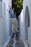 米科诺斯岛镇 免版税库存照片