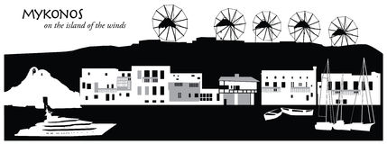 Mykonos Royalty Ilustracja