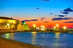 Mykonos alla notte immagine stock libera da diritti
