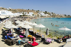 Mykonos beach Stock Photography