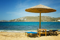 Mykonos beach Royalty Free Stock Photo