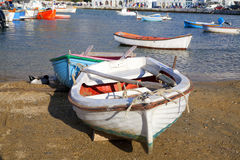 Mykonos Boats Royalty Free Stock Photo