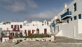 Mykonos buildings Stock Photos