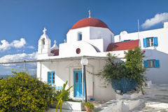 Mykonos Chapel Royalty Free Stock Images