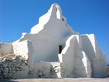 Mykonos Church. The Paraportiani church in Mykonos, Greece Royalty Free Stock Photo