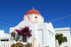 Mykonos Church Stock Image