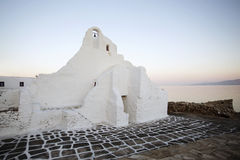 Mykonos Church at Sunrise Royalty Free Stock Photography