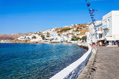 Mykonos city harbour, Greece Royalty Free Stock Photography