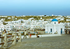 Mykonos cityscape Stock Photo