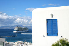Mykonos Cruise Ship Royalty Free Stock Photo