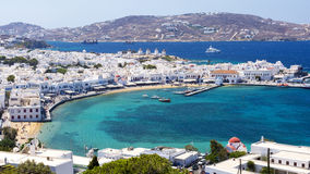 Mykonos, cyclades, Greece. View on island mykonos - greece stock images
